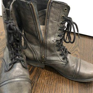 Leather Steve Madden Combat Boots